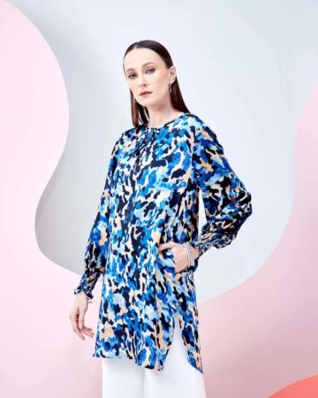 Shezi Leopard Printed Tunic