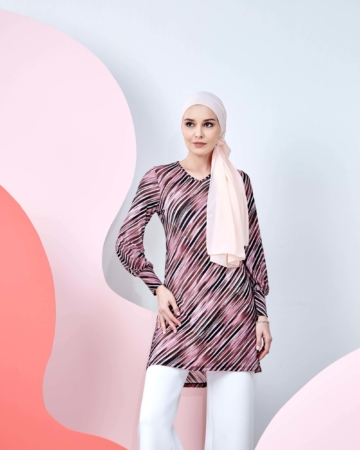 Syifa Pink Printed Tunic
