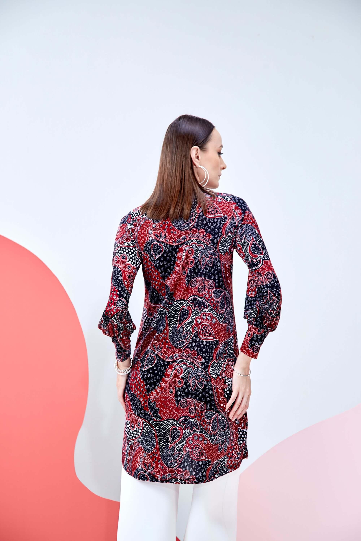 Syifa Red Printed Tunic 3